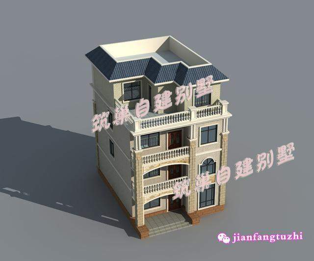 110平米9x12米简约四层农村自建房设计图别墅图纸48段魔尺图片