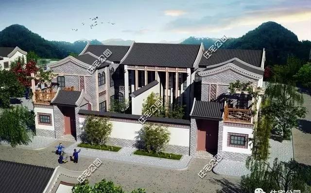 新别墅建中式房价最佳户型前30名,第1有多漂亮农村别墅区桃园北京图片