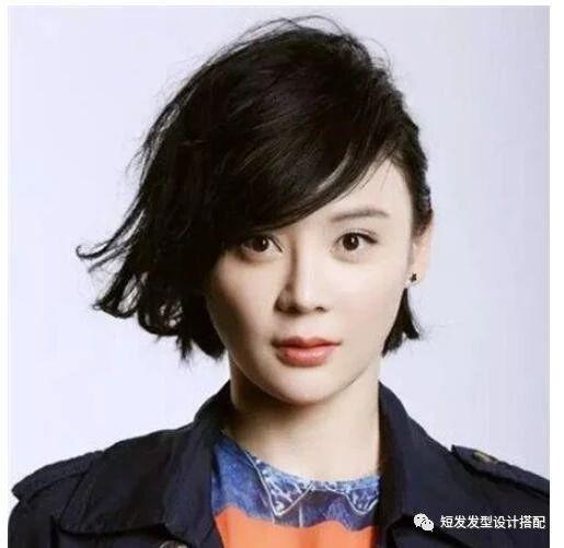 31岁的袁姗姗最新气质发型,短发十足,秒变成1图片冬天扎发短发发型图片