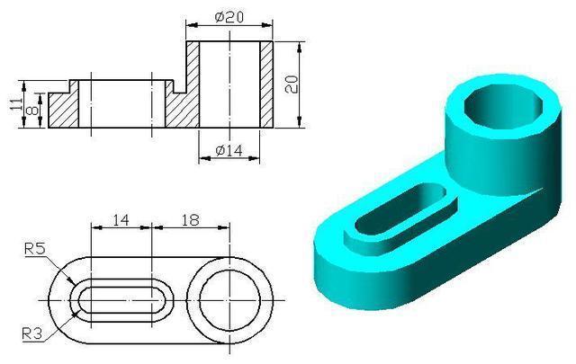 CAD整理绘图步骤参考操作以及解法入门cad练习样放技巧图三维图片