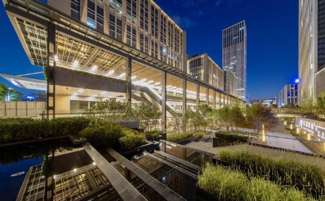 景观设计:藏在星光里的城市镜池--北京华夏a星光视频做logo设计教程字体图片