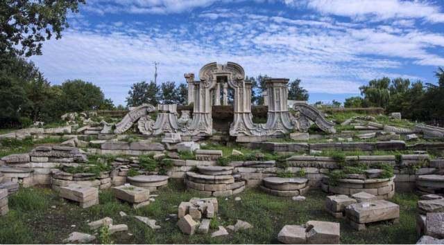 圆明园现在的图片_圆明园被毁灭的图片