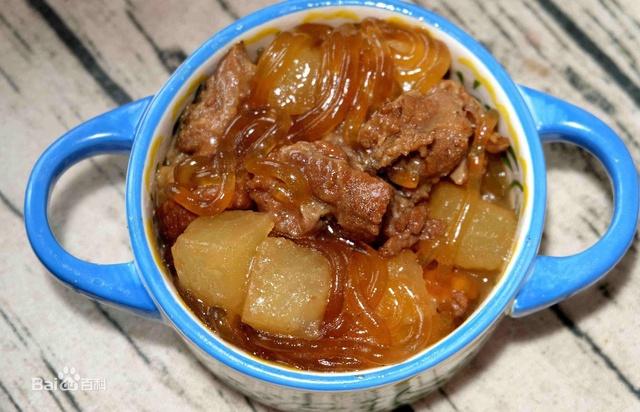 美食爽滑,香浓粉条的辽宁口感特色--羊肉炖美味乐堡欧济南附近美食图片