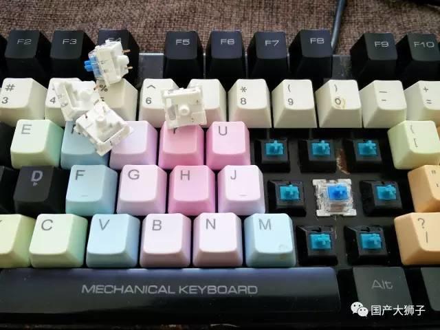 键盘:手把手教你v键盘教程机械换轴教程鲜奶油图片