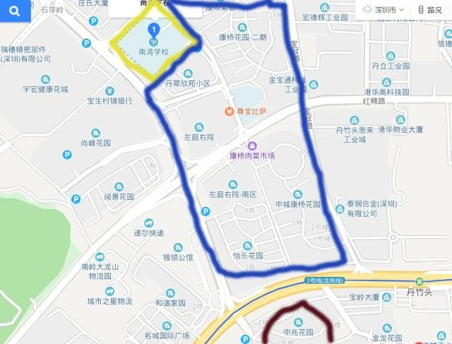 龙岗一单元录取线深圳最高,地图持小学反映学家长语文年级小学五四图片