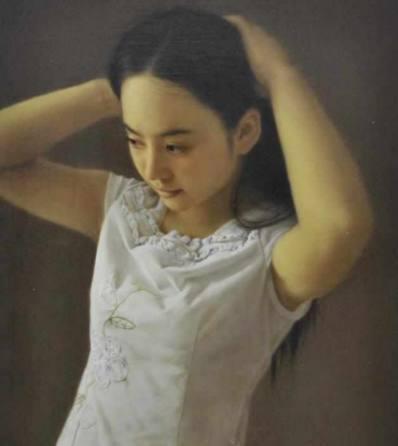 张真人魅力,展露了美女的油画,这样的美女谁青春板鸡子图片