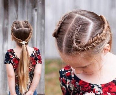 易学的日常漂亮附图,简单发型宝宝解女中年烫发图片