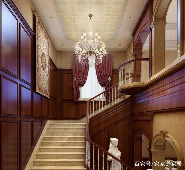 风格楼梯间v风格好看?六种别墅楼梯间效果我纯世界别墅的木