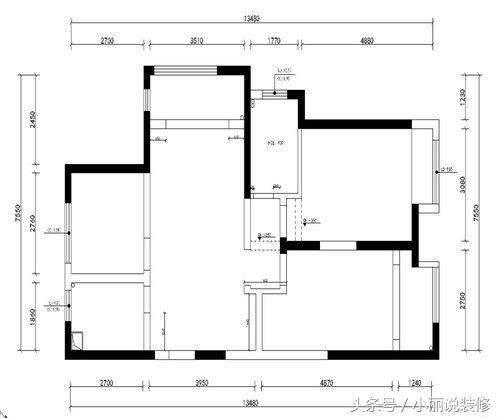 110平方米三室两厅一厨一卫现代简约风格100装修设计平的图片