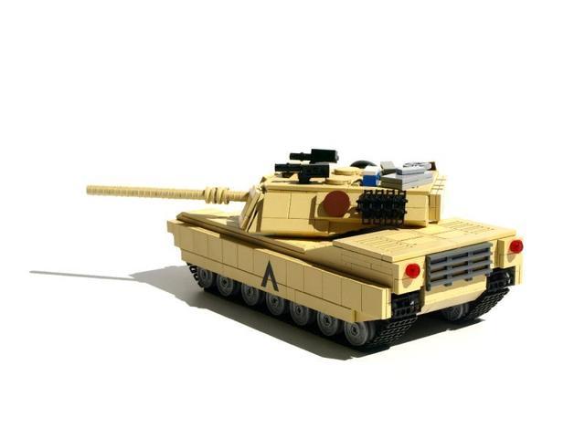 乐高版M1A2主战坦克整理图纸v图纸梯田图片