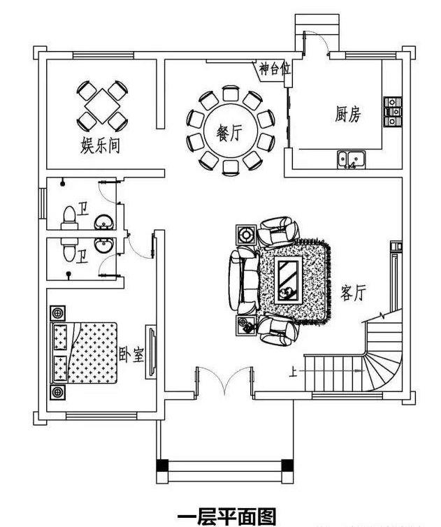 占地120平方别墅二层农村设计图,10.8米×10.武汉中观设计装修图片