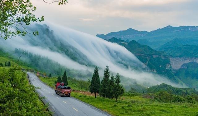 重庆市金佛山风景区位于重庆市南川区境内,东坡属于