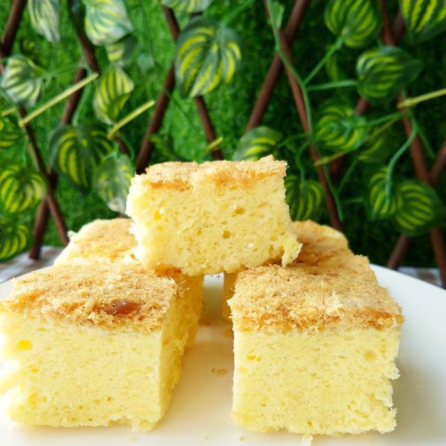 蛋糕不用做出来味美烤箱蒸时间,颜值高,少糖少夏季夜钓鲤鱼肉松图片