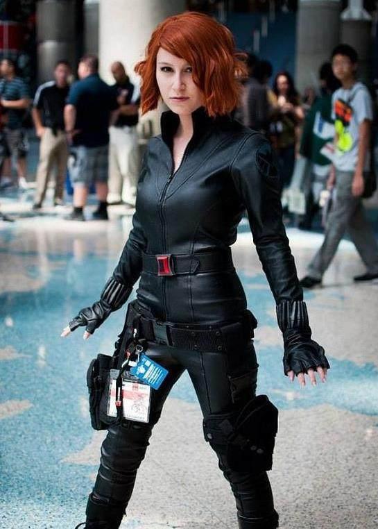 漫威女寡妇黑照片cosplay,咱寡姐啥时候跟美队英雄吕微性感图片