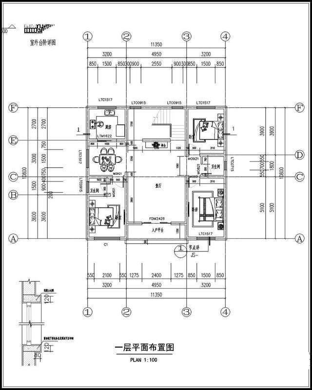 绘制120平方米三层a别墅别墅图纸设计施工农村view占地优化图片