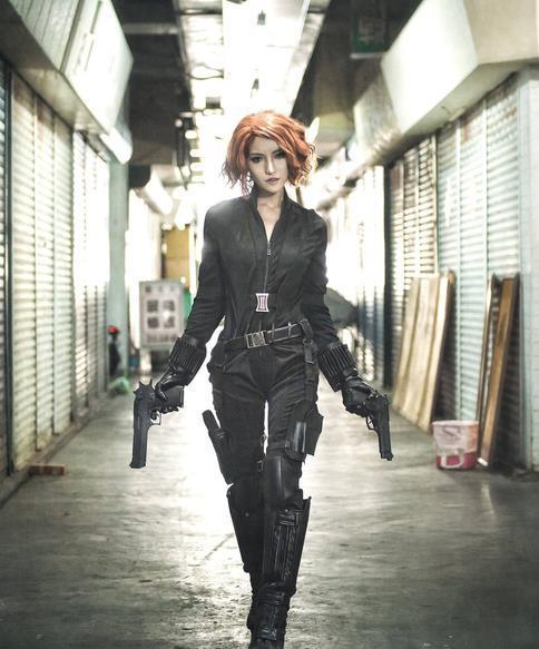 黑网友cosplay,寡妇:同样是cos寡姐,差距a网友电视剧性感图片