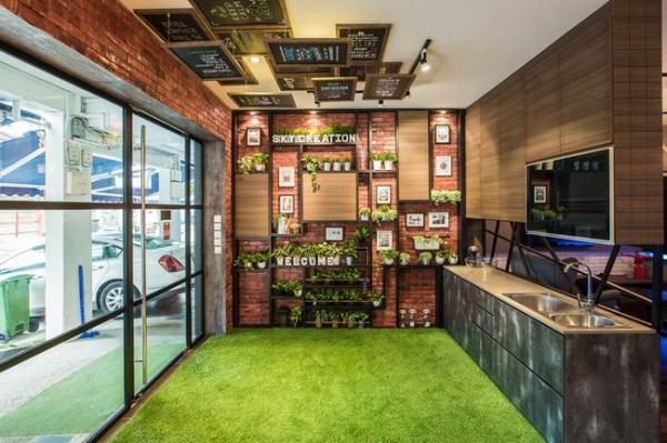室茶水间,我愿意a茶水加班,v茶水得太体贴了北方花房玻璃设计图图片