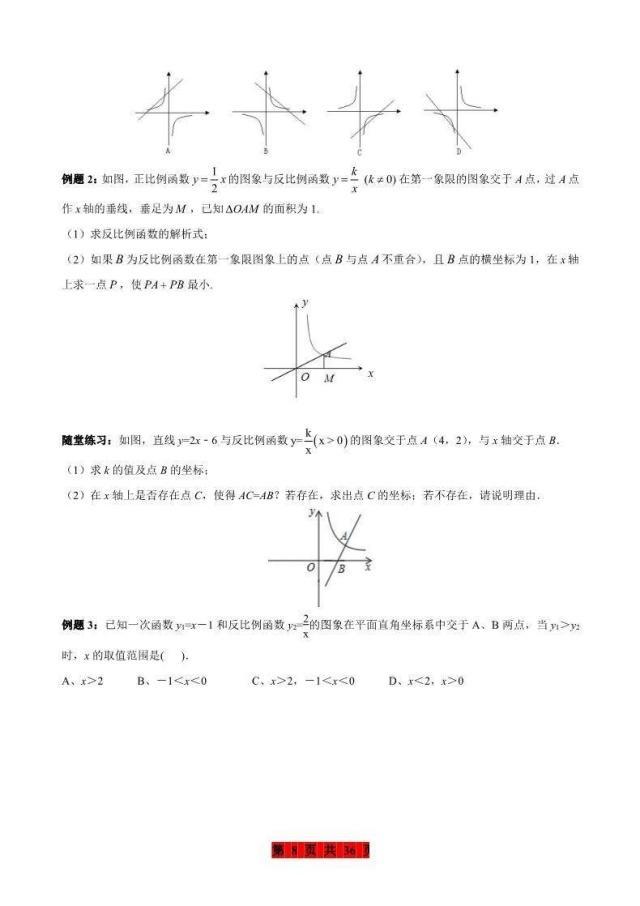 數學整理:函數口訣集錦知識點初中+練習題,吃化學方程式老師法初中圖片