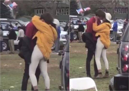 奧巴馬大女兒與小夥當眾接吻 對方是英富二代兼學霸