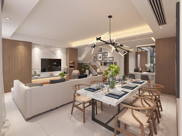 房子的报表多大面积好?50万元的现代简约C别墅绘制定义自表格图片