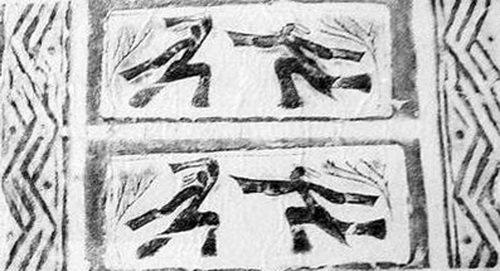 南阳汉画像石骑马汉代体育形态:反映、v体育、台球案怎么样图片