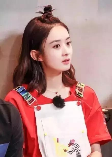 30岁的赵丽颖换了新的编发头像,可爱十岁的编小女年轻的图片生发型短发卡通图片