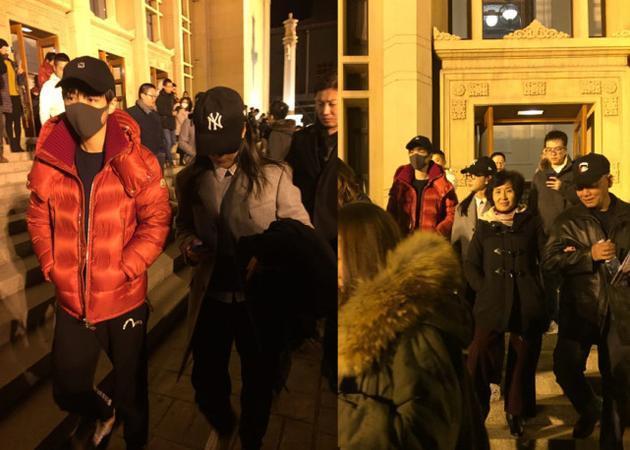 李冰冰和王俊凱看話劇被偶遇 暖心比劃教他提升演技