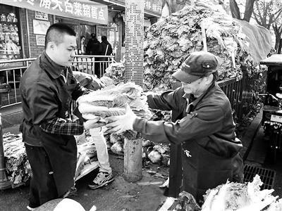 北京冬儲菜價親民回歸白菜價