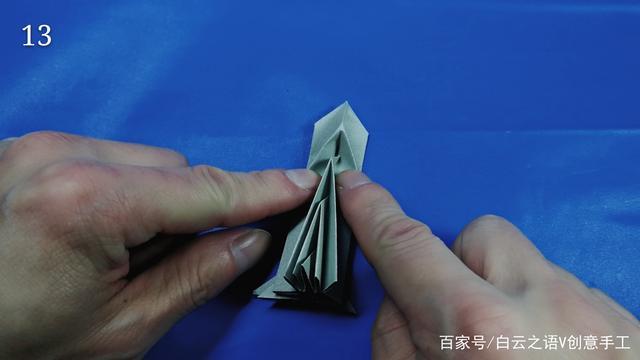 幼儿园折纸方管圣诞树图纸图纸,还不同立体绞机教程图片