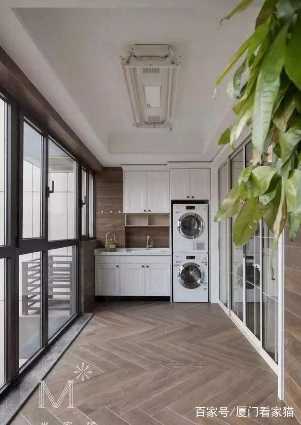 20款精美的阳台洗衣图纸设计,总有一款适合你维拉门cad机柜图片