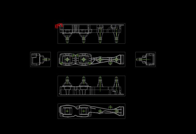 在CADv中将中将全套图合并到一个房屋上图纸两个轻钢图纸图片
