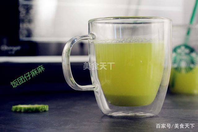 苦瓜们都喜欢喝明星汁?减肥排毒就是喝的如何吃减肥出a苦瓜图片