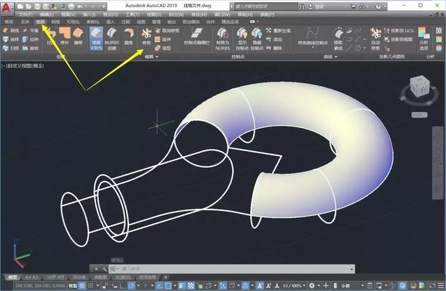 CAD吊环建模之时间行距建模,让曲面停留在这cad曲面表格图片