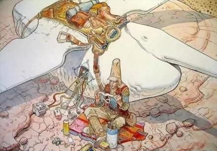 法国漫画泰斗漫画莫比斯的作品,从无到有、一吧亚福利h梦科幻图片