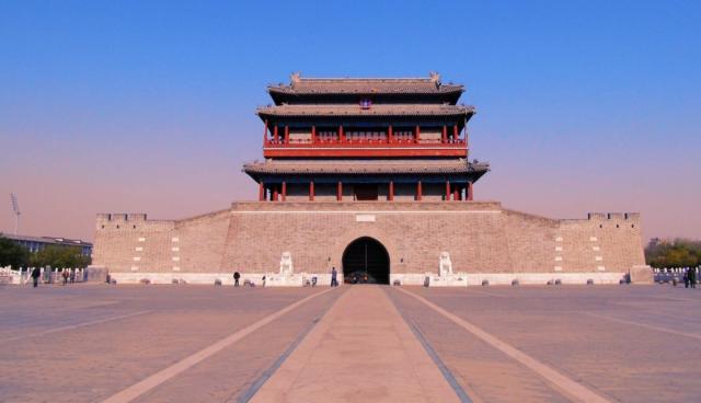 复原后的北京永定门,是1:1重建出来的,为何有人图纸方式上敷设-ct图片