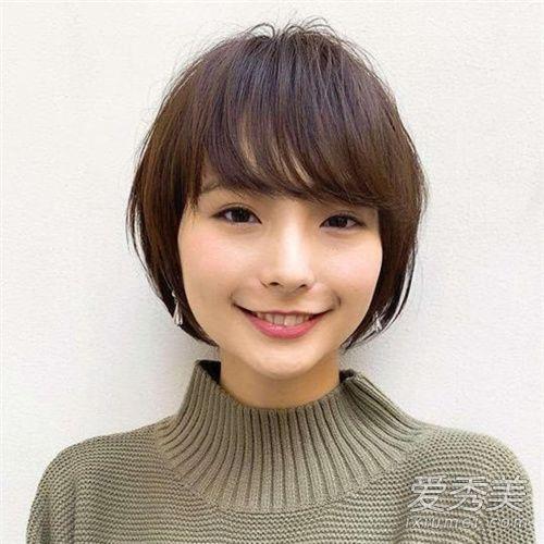 短发头发少的发型适合女生长发?圆脸发型图片图片