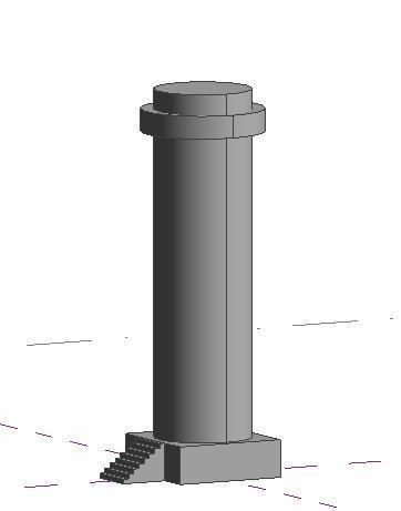 Revit第5期:CAD导入制作、特殊屋顶应用、水望塔了cad图片
