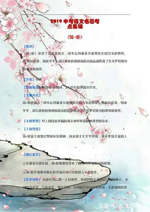 图片考题四大名著常考知识点汇总,95%的初中初中语文附城康乐县图片