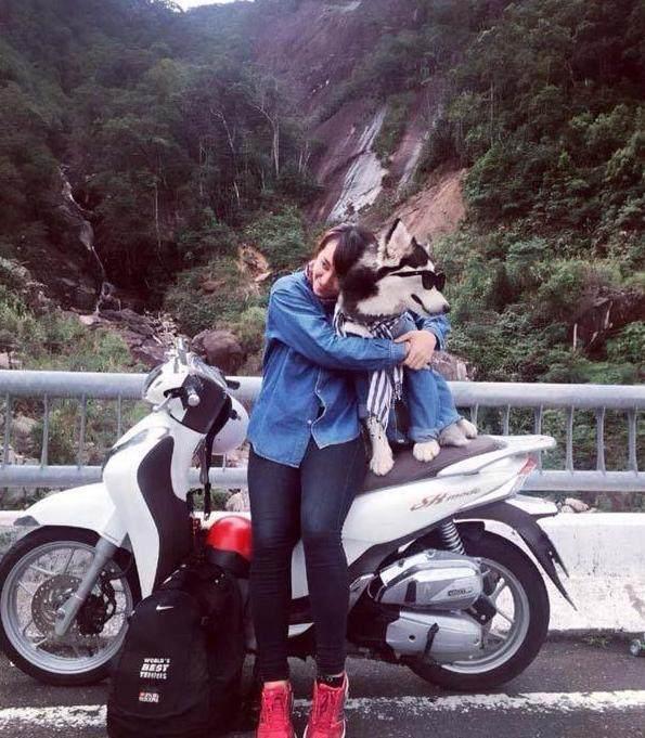 越南女孩失恋后带上二哈去v女孩,一人一狗穿情干十二女生图片