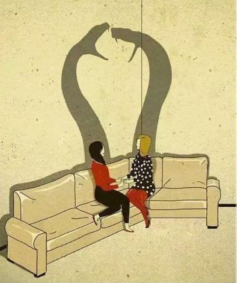 现实到窒息的10张人性插画,反映当下社会的黑