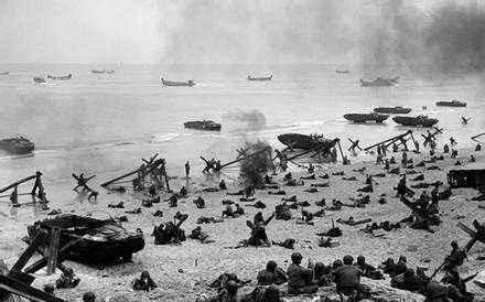 二战期间英国海军实力强大,强行登陆进攻德国