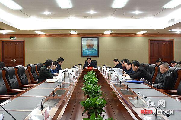 曹炯芳主持召開湘潭市委十二屆常委會第58次會議