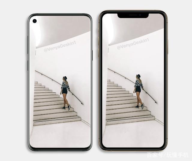 三星Galaxy S10渲染图vs苹果iPhone XS Max:该
