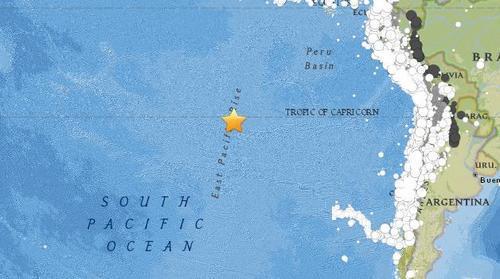 復活節島附近海域發生5.2級地震 震源深度10公里