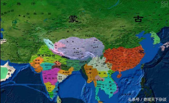 中国历代地图变迁,元朝真的是大啊!