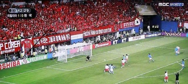 奇葩!韩国如今依旧播放2002世界杯,黑哨战胜意