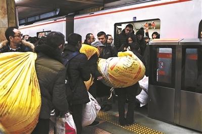 元宵節返京高峰地鐵適時加開臨客