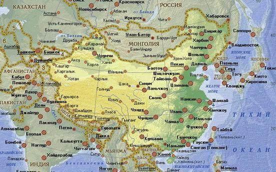 世界各地教科书中的中国地图,日韩国将台划归