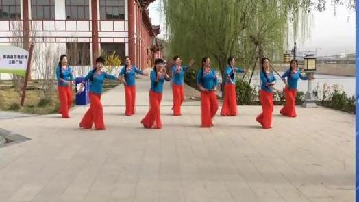 陇西青春靓丽舞蹈队《梦中的兰花花》