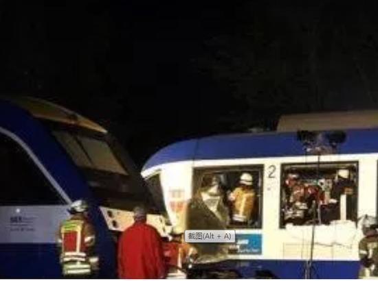 德國南部兩列火車相撞 至少2人死亡10人受傷